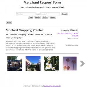 Yiftee Merchant Recommendation Engine