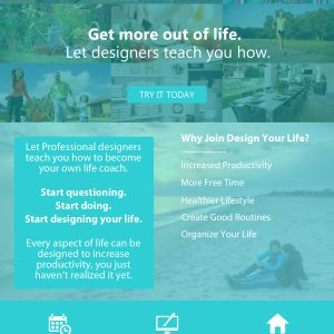 Design Your Life – Concept Homepage